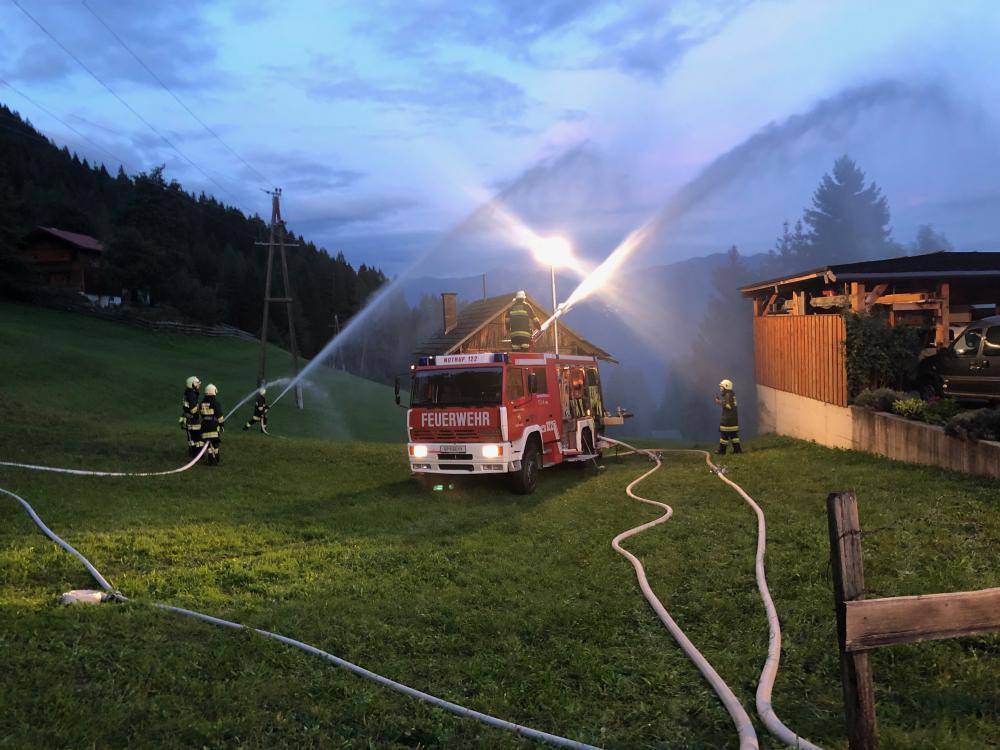 Gebäudebrand in der Gnoppnitz