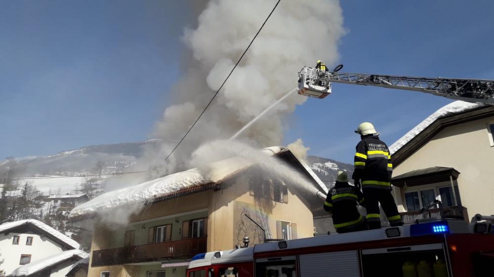 Dachstuhlbrand in Dellach/Drau