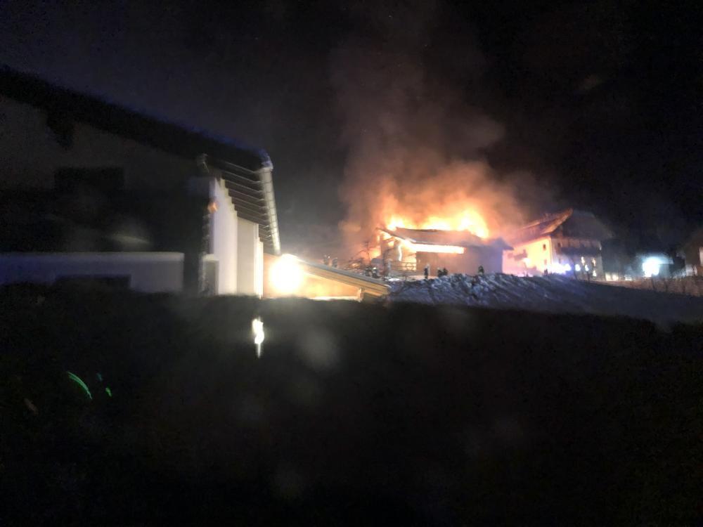 Wirtschaftsgebäudebrand in Dellach/Drau