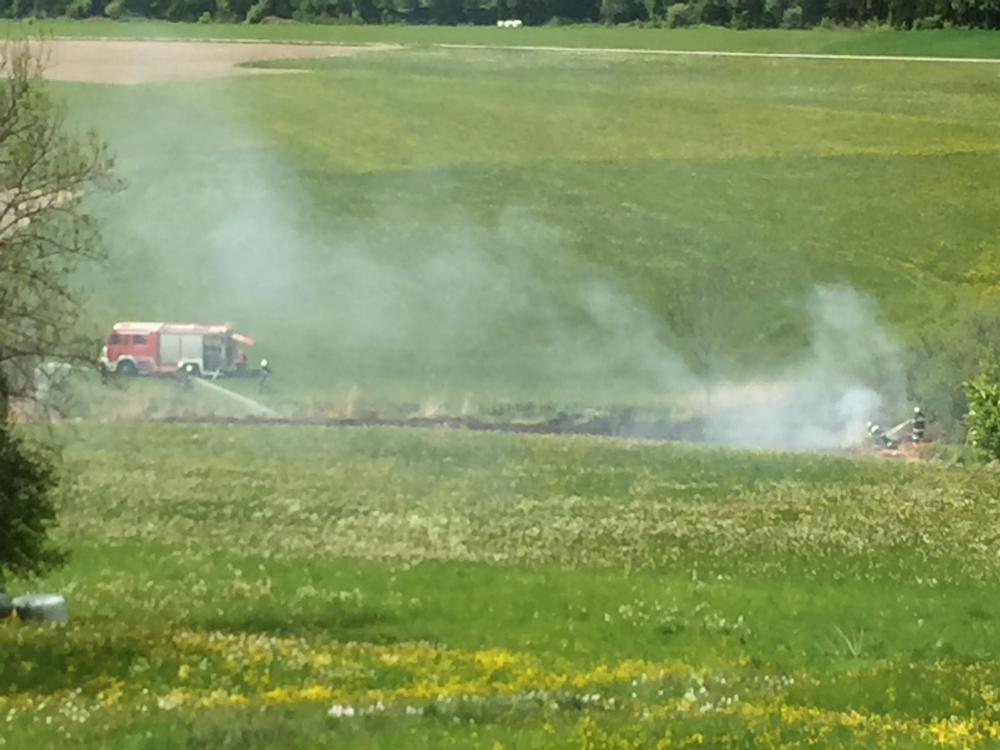 Böschungsbrand in Waisach