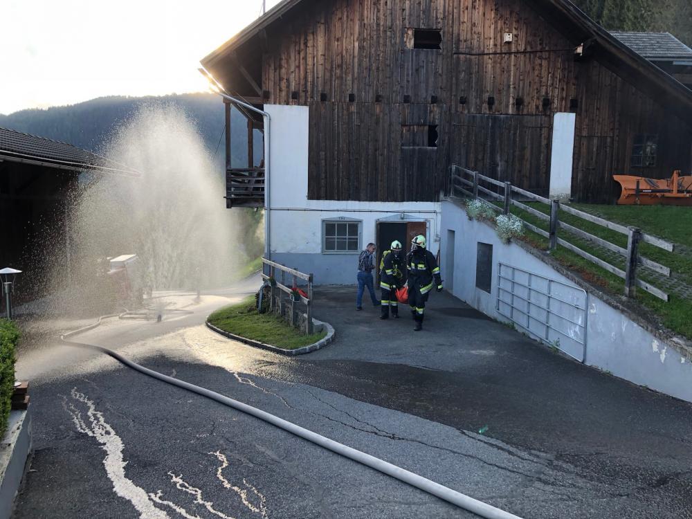 Wirtschaftsgebäudebrand Gnoppnitz